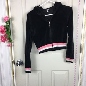 Poof! Crop Sweatshirt Black S